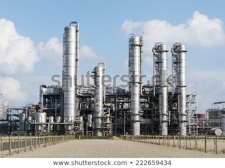 Chemical oil plant equipment petrol distillery  Stock photo © lunamarina