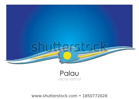 Bandeira Palau mão cor país estilo Foto stock © claudiodivizia