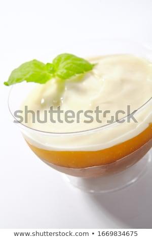 witte · chocolade · melk · diner · Rood · plaat - stockfoto © m-studio