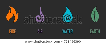 vector icons of elements of earth stock photo © get4net