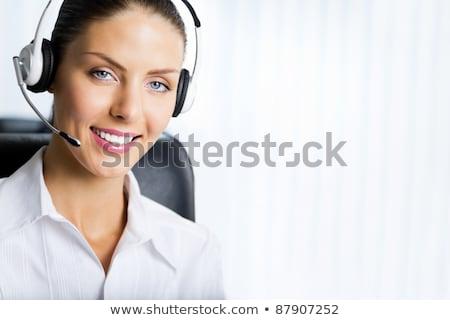 Operador auricular cara femenino aislado Foto stock © Nobilior