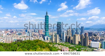 taipei skyline Stock photo © compuinfoto