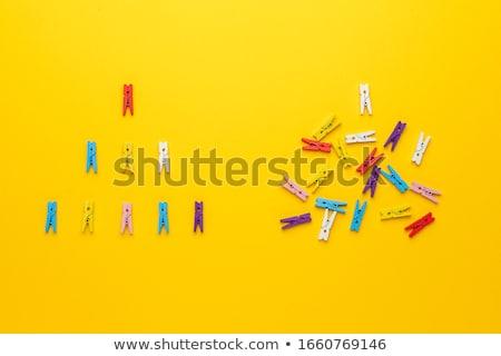 Chaos celu wyboru żółty kierunku podpisania Zdjęcia stock © tashatuvango
