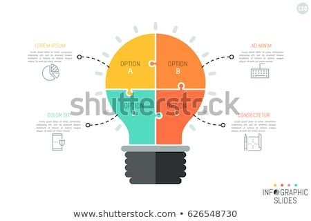 light bulb icon on multicolor puzzle stock photo © tashatuvango