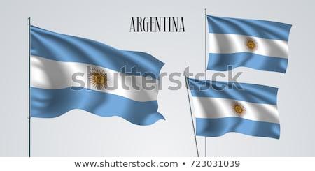 Argentinian Flag waving Stock photo © faabi