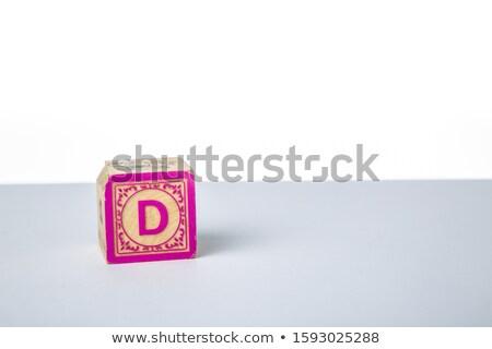 alfabe · çerçeve · ahşap · bloklar · beyaz - stok fotoğraf © tashatuvango