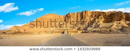 エジプト · ランドマーク · 有名な · 岩 · 石 · アフリカ - ストックフォト © mikko