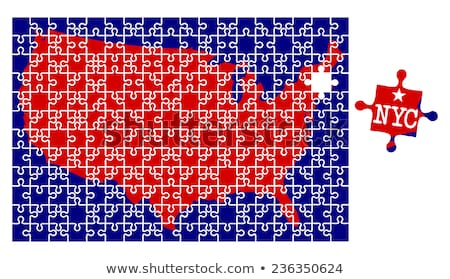 Map of States of the United States where New York is pulled out Stock photo © Istanbul2009