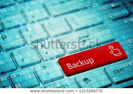 File Security on Red Keyboard Button. Stock photo © tashatuvango