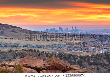 famous red rocks amphitheater in denver stock photo © capturelight