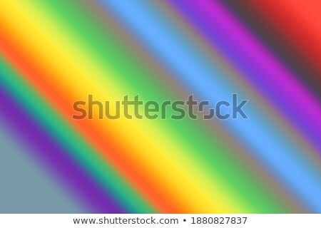 Beautiful vivid art palette and mix of paintbrushes  Stock photo © tannjuska