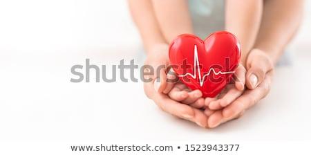 doar · órgão · ilustração · mulher · sorrir · coração - foto stock © sognolucido
