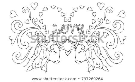 Printable tshirt graphic- Valentine hair Stock photo © shawlinmohd