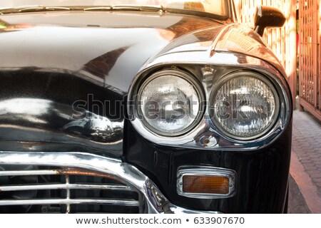 Foto retro auto koplampen gezicht Stockfoto © Nejron