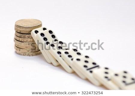 Brits pond domino euro valuta borden Stockfoto © Giashpee