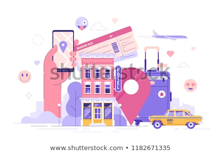 holiday vacation flying vector set stock photo © beaubelle