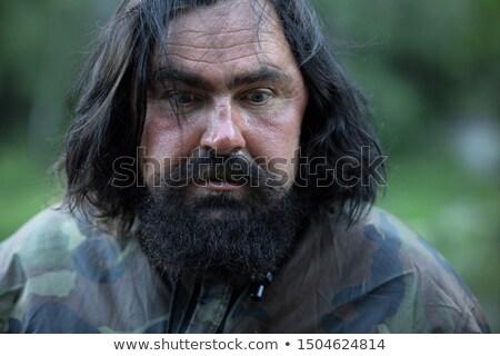 Hajléktalan férfi fiatal férfi ütem baseball ütő Stock fotó © lisafx