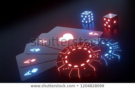 Chips cuatro aces negro blanco diamantes Foto stock © gemenacom