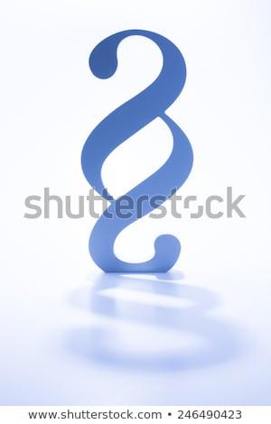 Blauw paragraaf teken 3D gegenereerde foto Stockfoto © flipfine