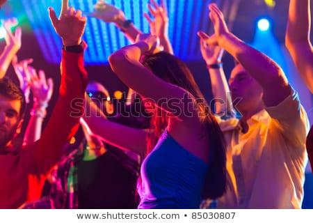 ázsiai emberek bulizás tánctér éjszakai klub buli Stock fotó © Kzenon
