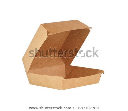 Hamburguesa cartón naturales todo carne de vacuno rebanada Foto stock © fresh_4870785