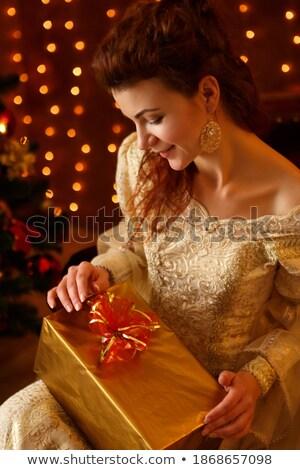 portret · fabelachtig · brunette · jonge · dame · jonge · vrouw - stockfoto © majdansky