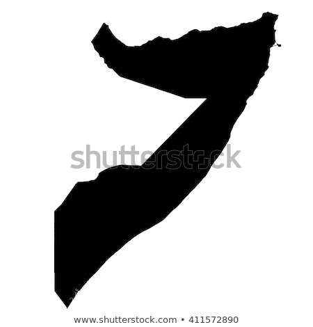 Sylwetka Pokaż Somali podpisania biały napis Zdjęcia stock © mayboro