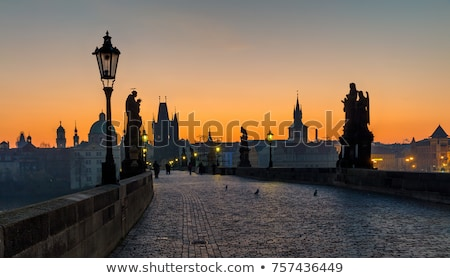 Prague · nuit · vue · pont · tour · bâtiment - photo stock © VojtechVlk