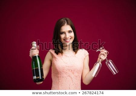 lány · borászat · illusztráció · nő · ital · szőlő - stock fotó © oleksandro