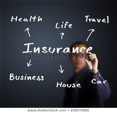 Stock photo: risk wording, investment and insurance concept