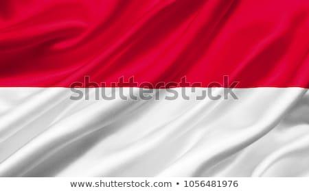 Banderą Monaco wykonany ręcznie placu streszczenie Zdjęcia stock © k49red