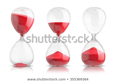 hourglass on white background stock photo © tatik22