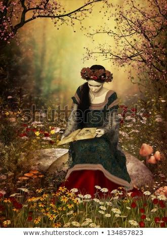 elf princess in stone garden stock photo © petrmalyshev