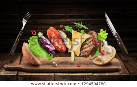 creating the perfect healthy hamburger stock photo © ozgur
