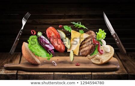 Creating the perfect healthy hamburger Stock photo © ozgur