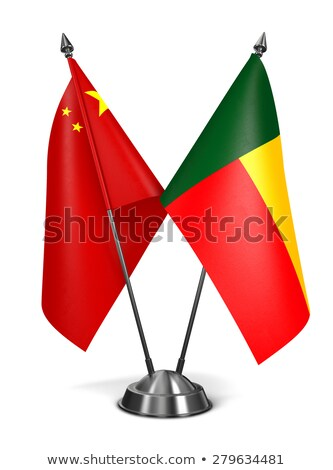 Cina Benin miniatura bandiere isolato bianco Foto d'archivio © tashatuvango