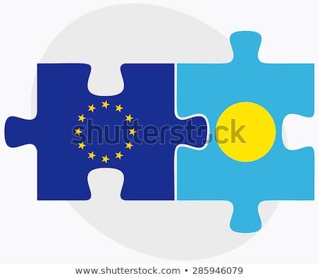 Europeu união Palau bandeiras quebra-cabeça isolado Foto stock © Istanbul2009