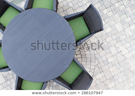 Six seater outdoor patio set Stock photo © ozgur