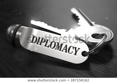 Diplomacy Concept. Keys with Keyring. Stock photo © tashatuvango