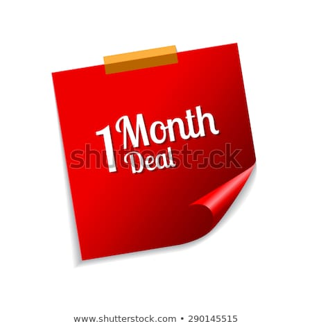 1 month deal red sticky notes vector icon design stock photo © rizwanali3d