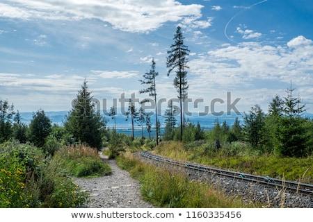 pueblo · montanas · excursionistas · caminata · edificio · edad - foto stock © master1305