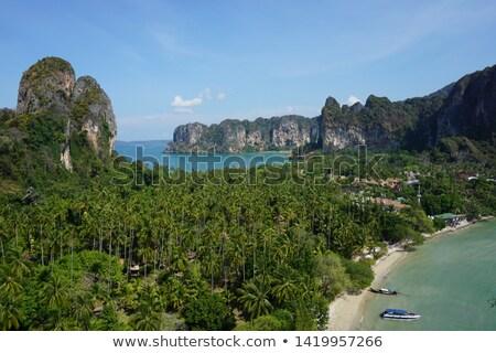 Krabi · tengerpart · Thaiföld - stock fotó © smithore