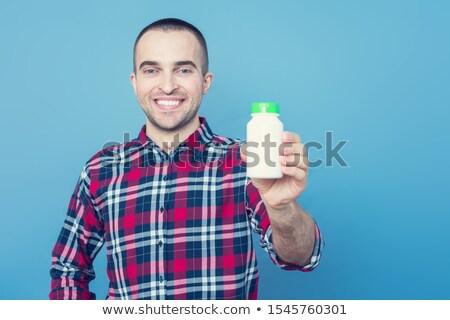 homeopatia · médico · azul · turva · texto · pílulas - foto stock © nito