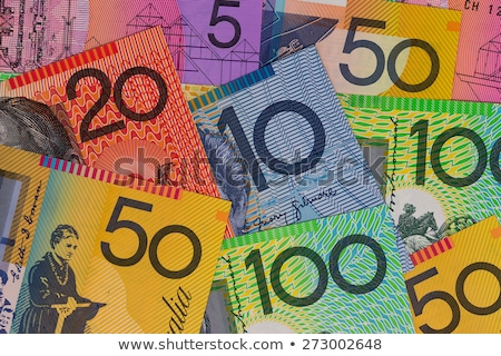 australiano · moeda · isolado · branco · dinheiro · nota - foto stock © artistrobd