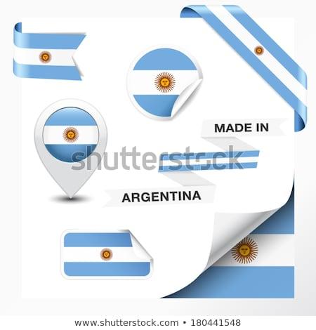 pavillon · étiquette · Argentine · isolé · blanche · signe - photo stock © tony4urban