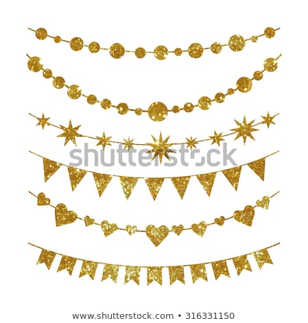 Golden dotted triangle banner Stock photo © gladiolus