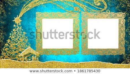 Gold · Frames · rot · Kino · schwarz · Innenraum - stock foto © marimorena