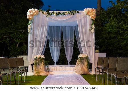 Wedding canopy Stock photo © ajfilgud
