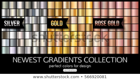 Set Sammlung Ziffern Symbol golden Textur Stock foto © smeagorl