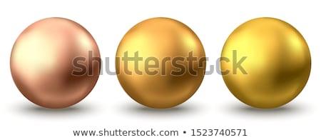Glanzend gouden bol geïsoleerd witte internet Stockfoto © lenapix
